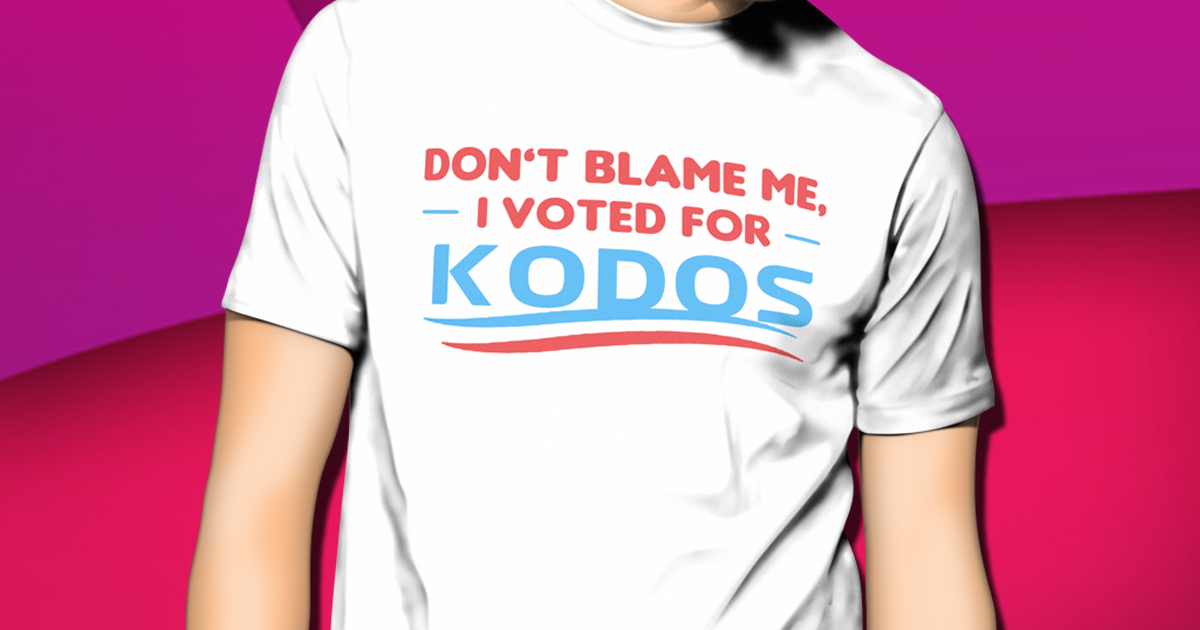 VOTED FOR KODOS T-SHIRT
