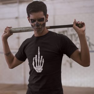 Skeleton Middle Finger T-Shirt